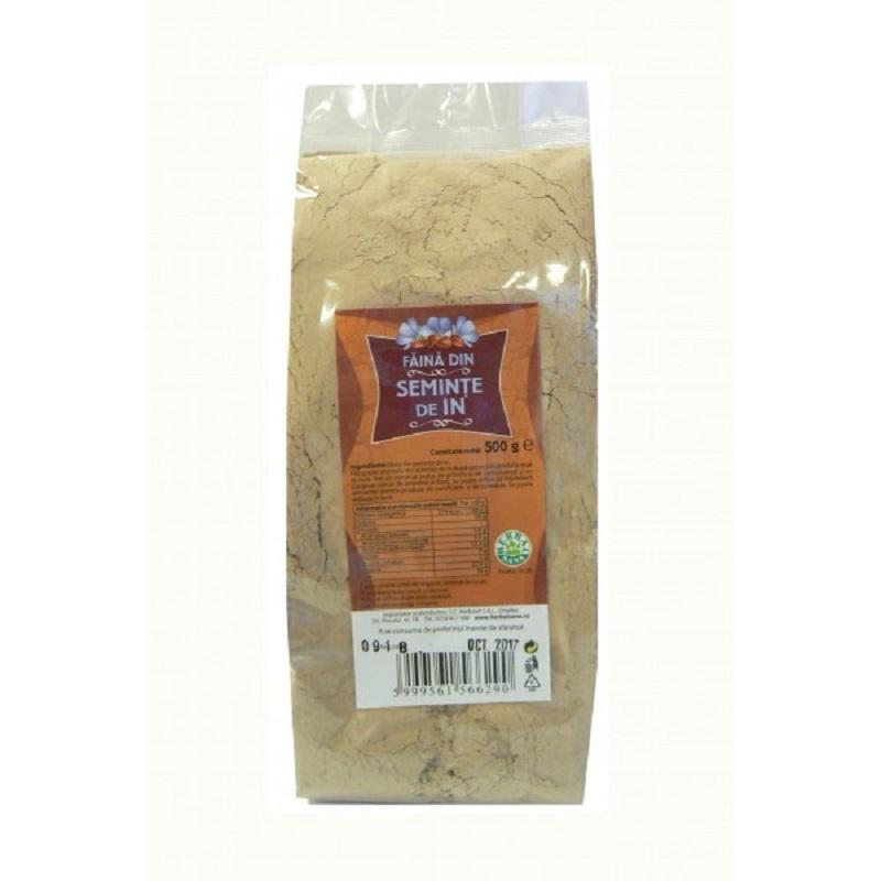 Făină din semințe de in, 500 g, Herbal Sana