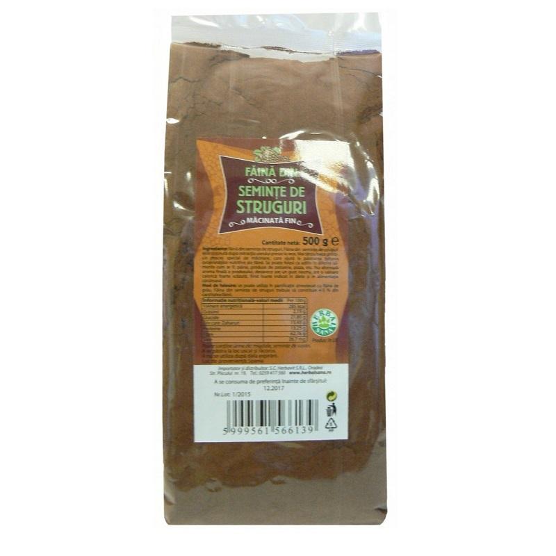 Făină din semințe de struguri, 500 g, Herbal Sana