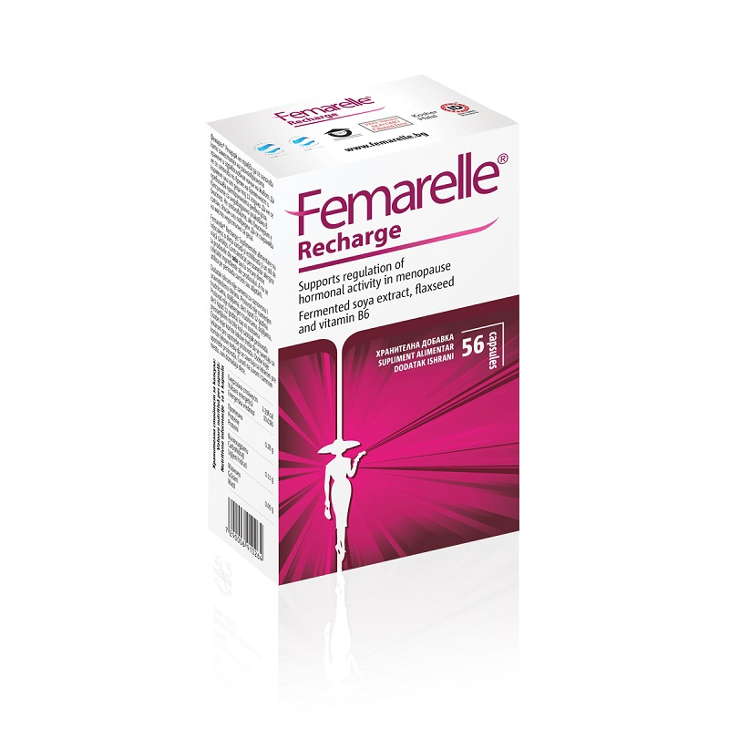 Femarelle Recharge menopauza, 56 cps, Se-cure Pharmaceuticals