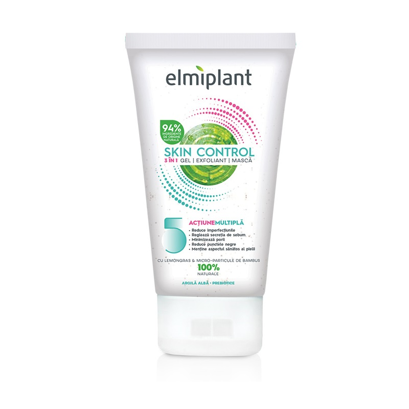 Gel-Exfoliant-Mască Skin Control 3în1, 150 ml, Elmiplant