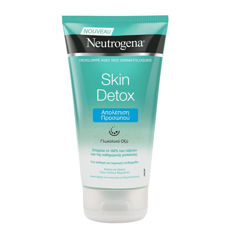 Gel-scrub revigorant pentru față Neutrogena Skin Detox, 150 ml, Johnson&Johnson