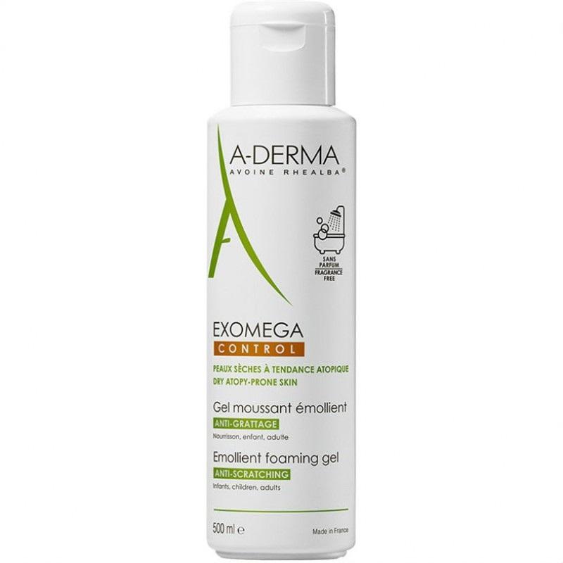 Gelul spumant emolient Exomega Control, 500 ml, A-Derma