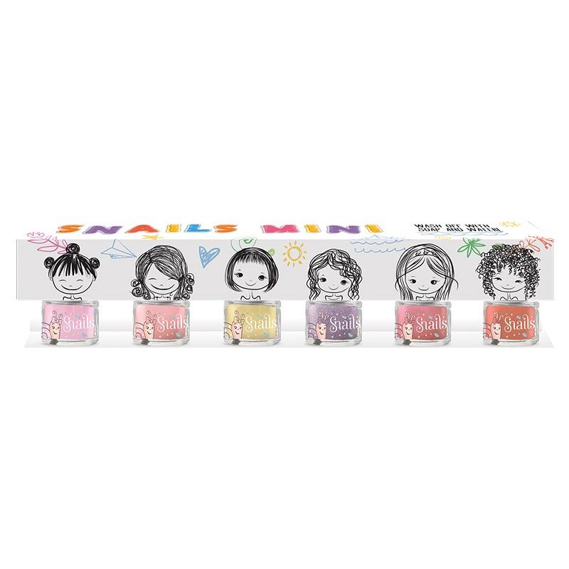 Lac de unghii pentru copii, Set cutie cadou music, 6 buc x 7 ml, Snails