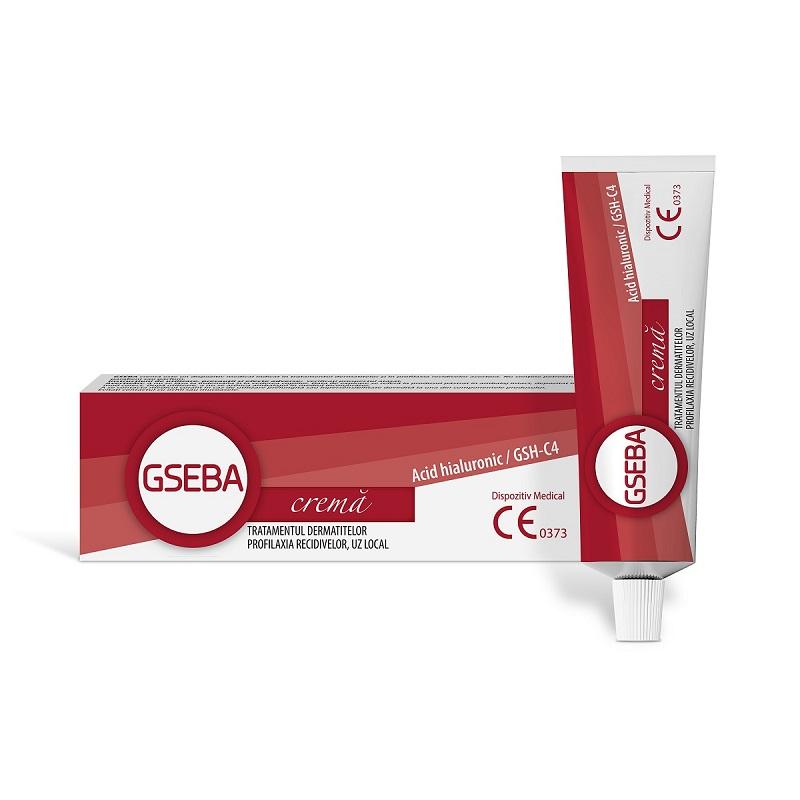 GSEBA cremă cu acid hialuronic pentru tratamentul dermatitelor, 30 ml, Solartium