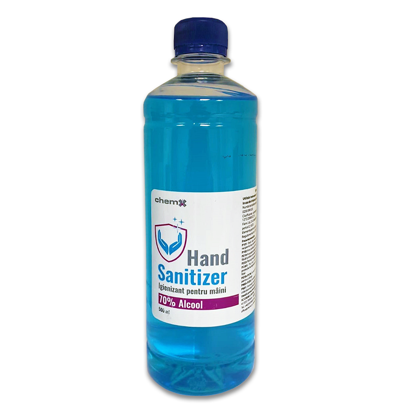 Igienizant pentru mâini, 70% alcool, 500 ml, Chemx