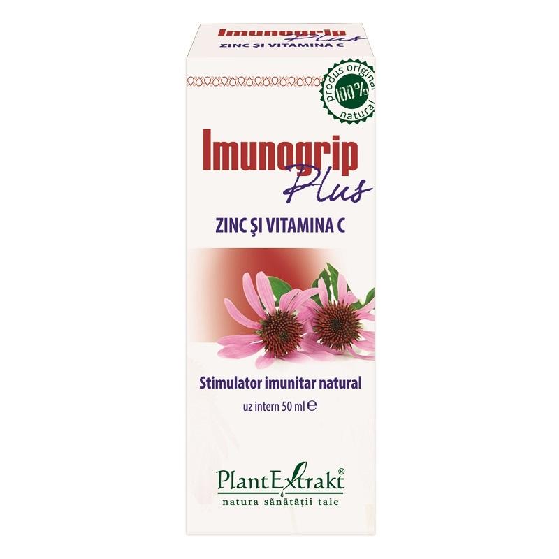 Imunogrip plus Zinc si Vitamina C, 50 ml, Plant Extrakt