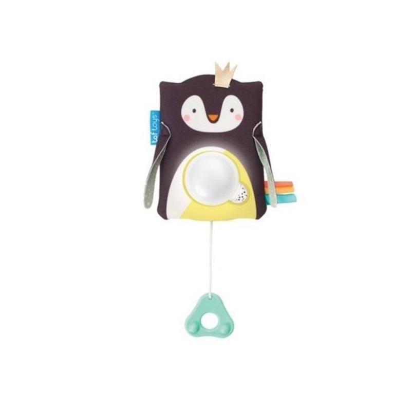 Jucărie multifunctională cu inel gingival, Pinguinul Prince, 12275, Taf Toys