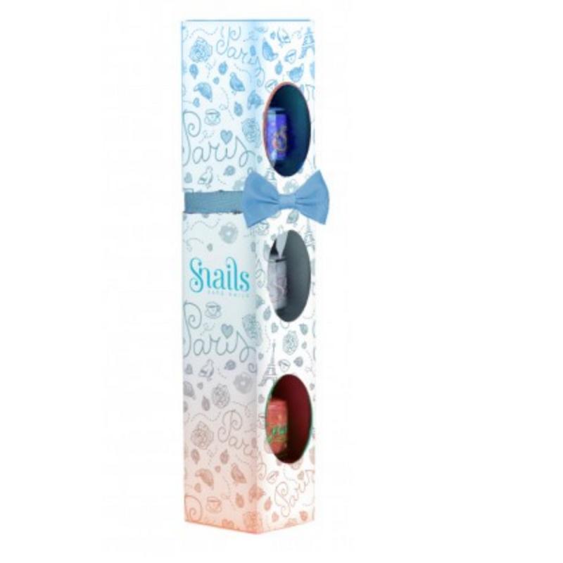 Lac de unghii Ojă pentru copii, set 3 buc x7ml + cutie Paris, Snails