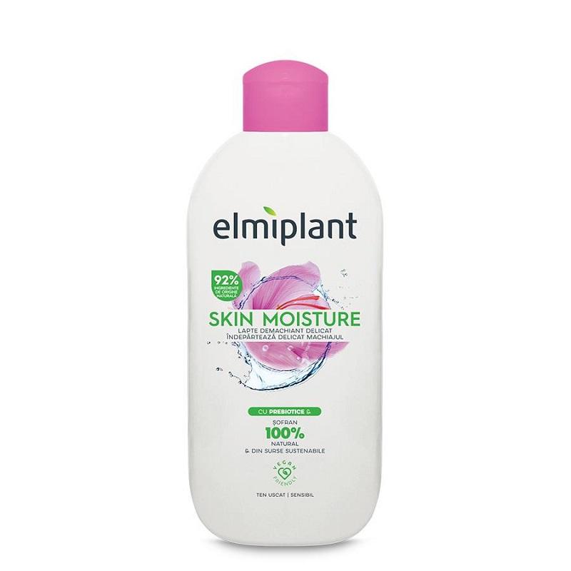 Lapte demachiant delicat pentru ten uscat-sensibil, Skin Moisture, 200 ml, Elmiplant