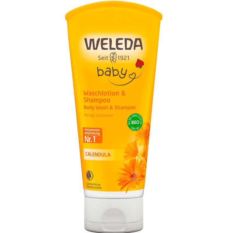 Loțiune curățare și șampon gălbenele Baby, 200ml, Weleda