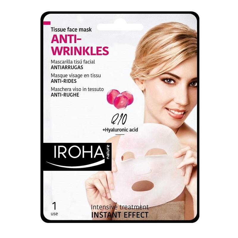 Mască pentru față pe suport textil cu Conezima Q10, 23 ml, Iroha