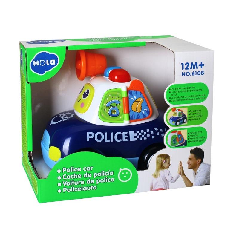 Mașină de poliție cu lumini si sunete, 6108, Hola