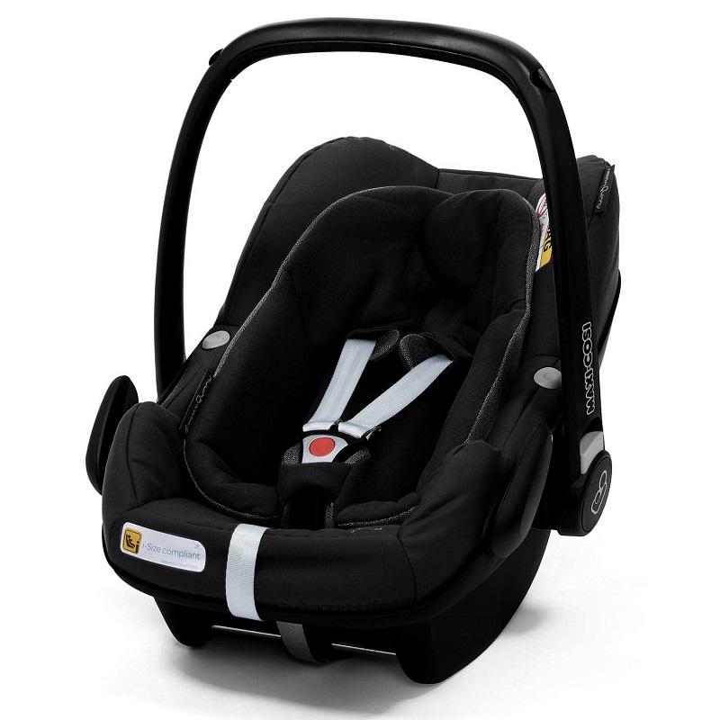 Scoica auto Pebble Plus I-Size, Black, 0-75 cm,  Maxi Cosi
