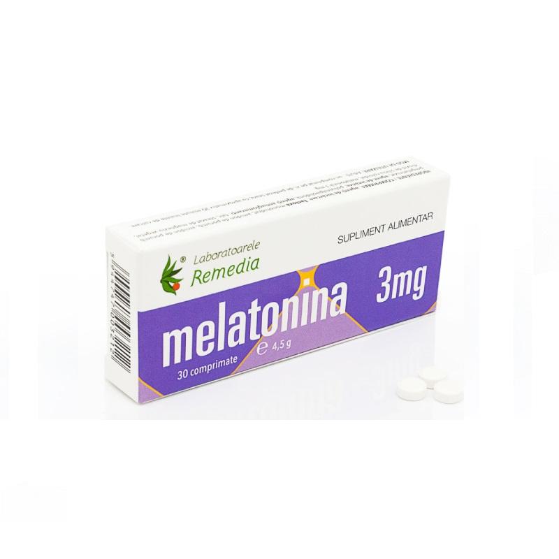Melatonină, 3 mg, 30 comprimate, Remedia
