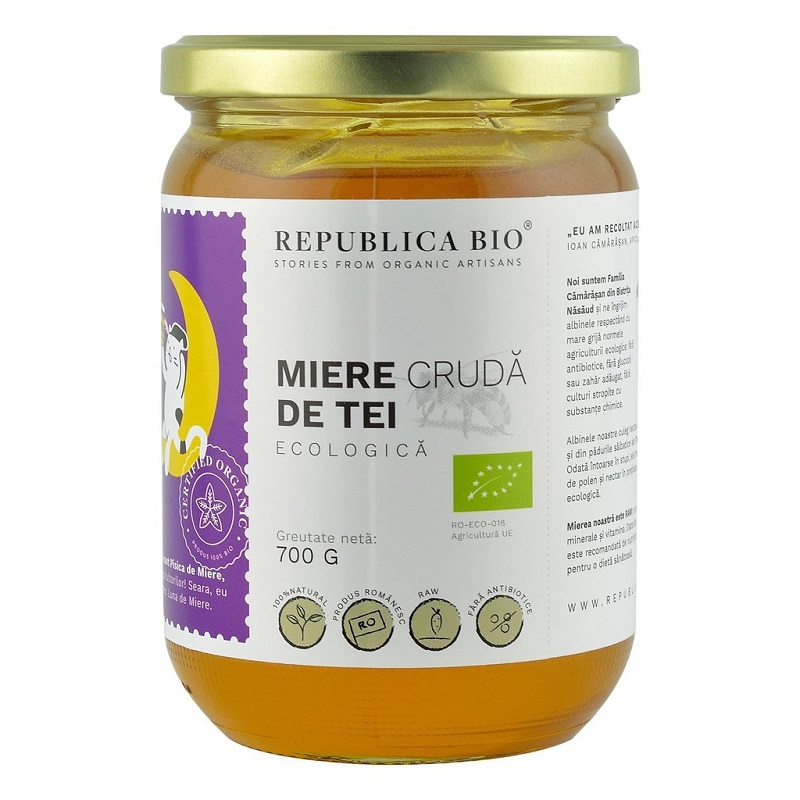 Miere crudă din Tei Eco, 700 gr, 29931, Republica Bio