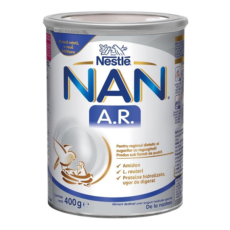 Formula speciala de lapte praf pentru regim dietetic Nan AR, +0 luni, 400 g, Nestle