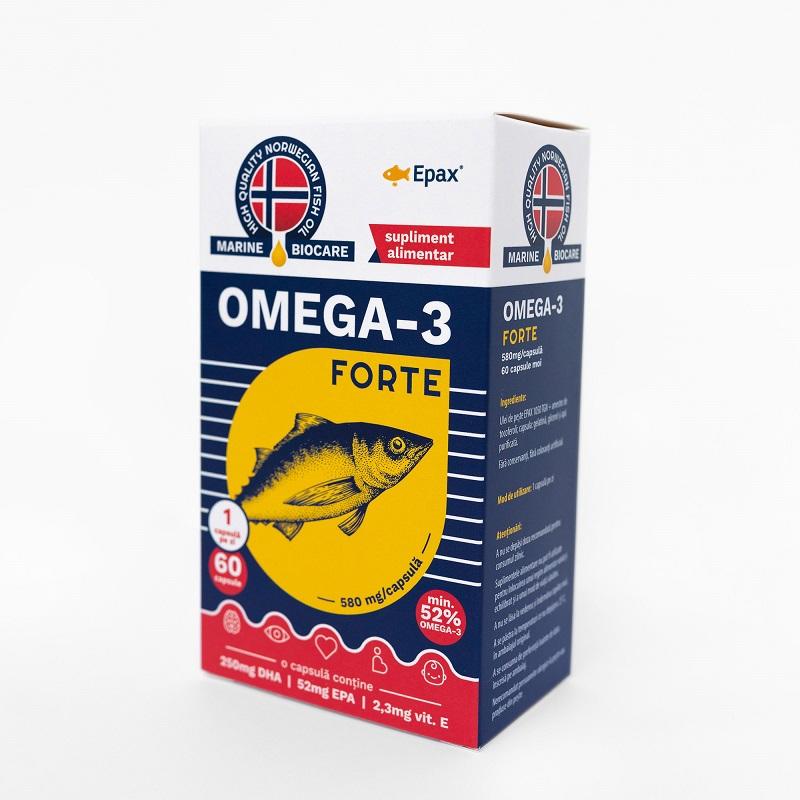 Omega 3 forte, 60 capsule, Phyto Biocare