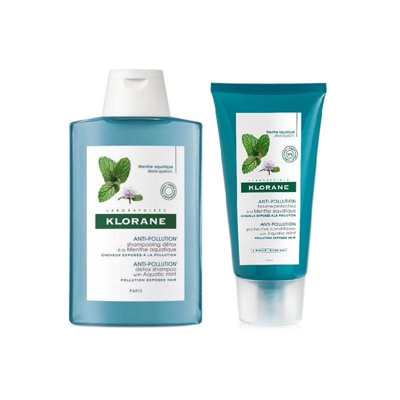 Pachet șampon mentă 200 ml + Balsam mentă 150 ml - 50% Reducere, Klorane