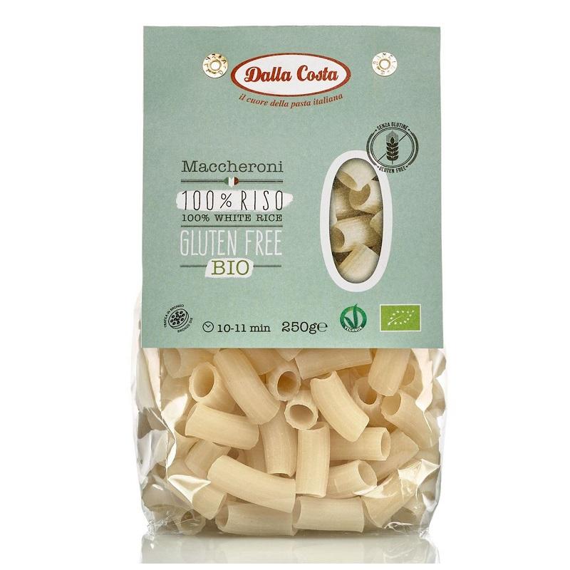 Paste Maccheroni din orez Bio fara gluten, 250 g, Dalla Costa