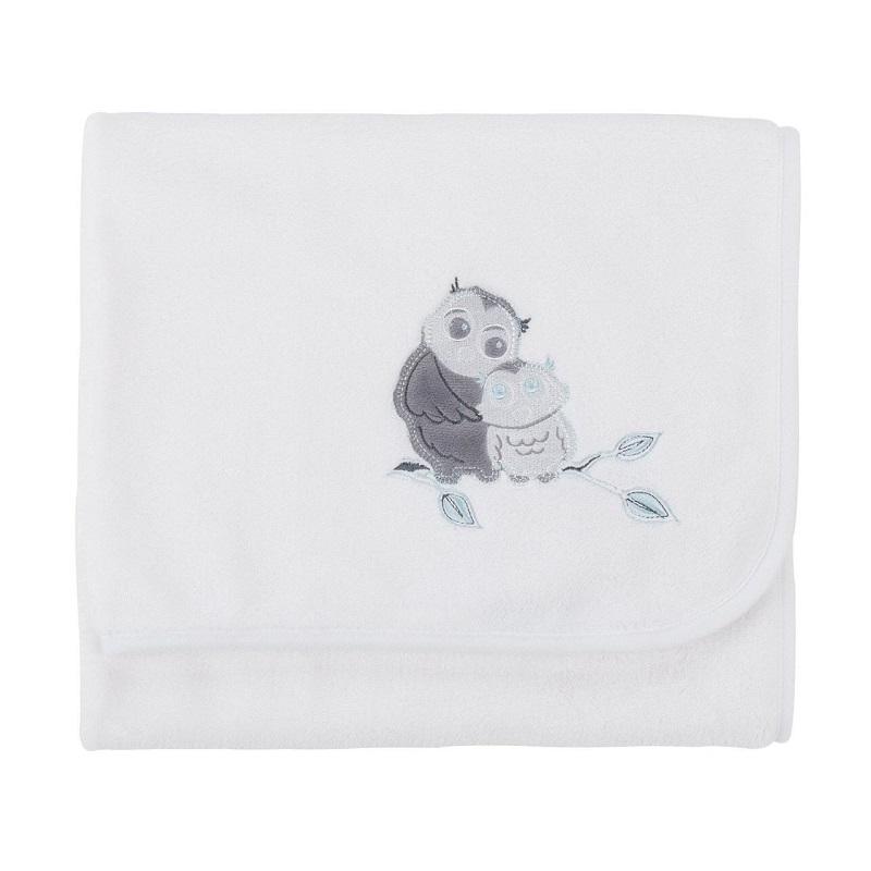 Păturică din Fleece comfi Love Owl 90x70 cm, 844319, Cuddleco