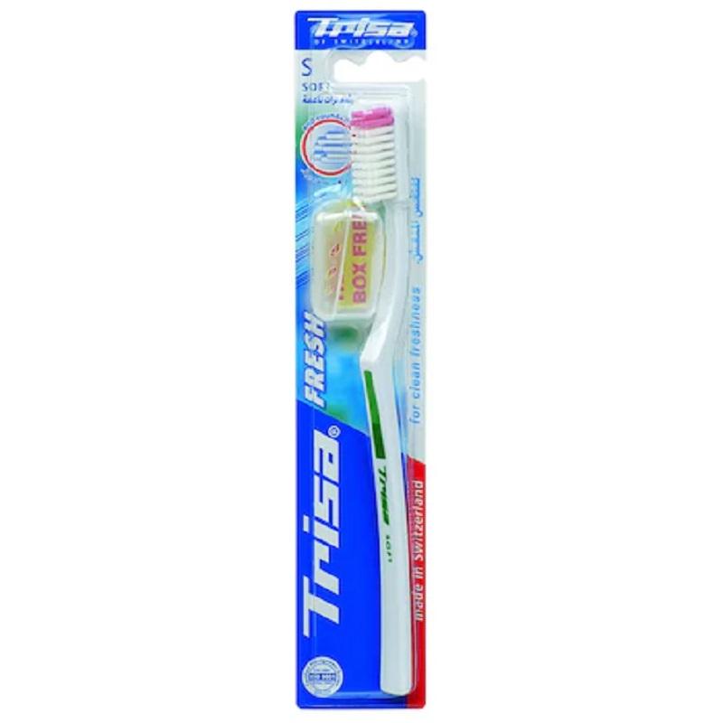 Periuta de dinti cu capac de protectie Fresh Soft, 353914, Trisa