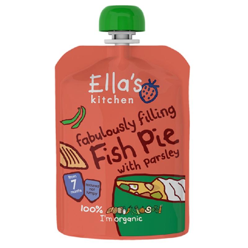 Piure Bio de somon cu legume, 130 gr, Ella's Kitchen