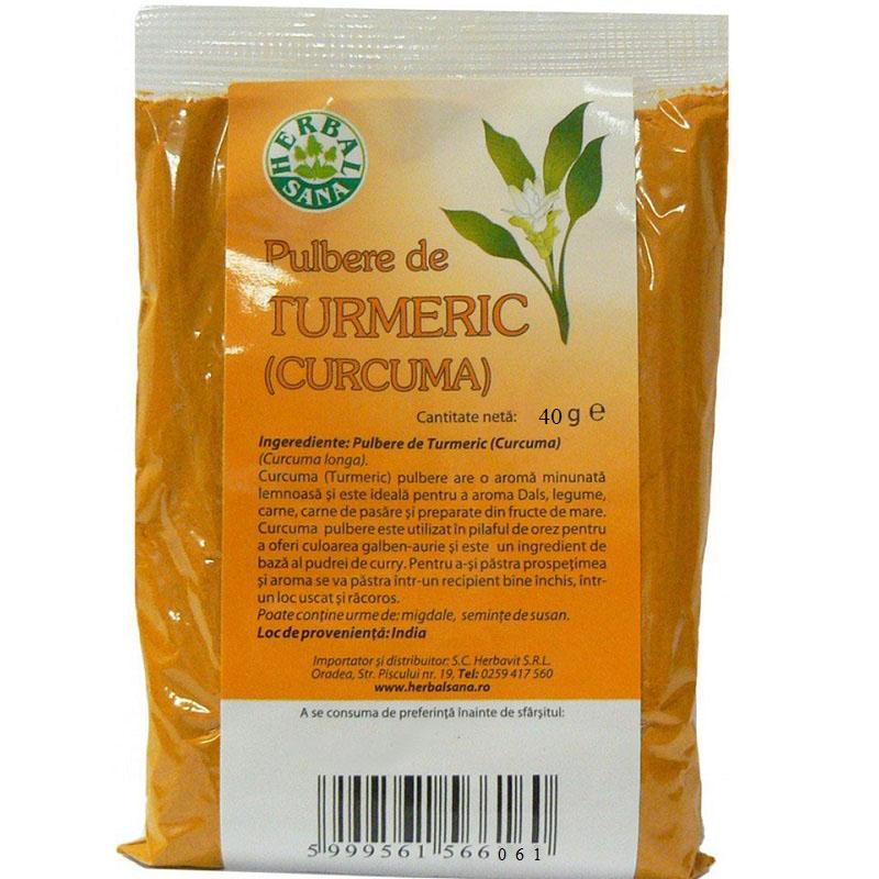 Pulbere Turmeric, 40g, Herbal Sana