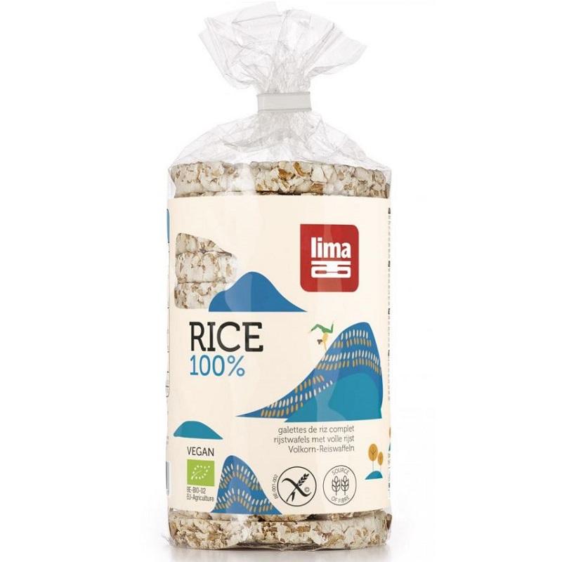 Rondele din orez expandat cu sare, 100 gr, Lima