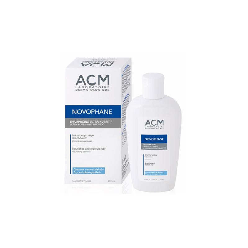 Sampon ultra nutritiv pentru par uscat Novophane, 200 ml, ACM