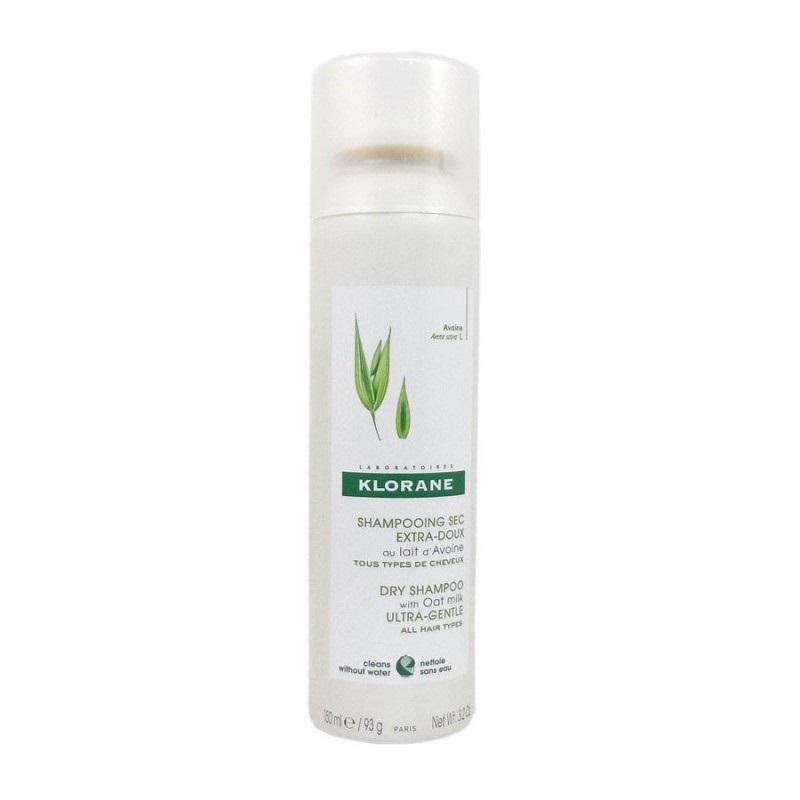 Șampon uscat cu lapte și ovăz, 150 ml, Klorane