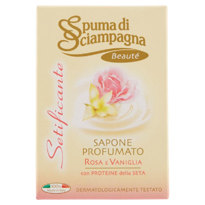 Săpun cu trandafir și vanilie, 90 gr, Setificante, Spumă di Sciampagna