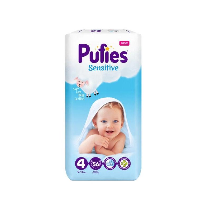 Scutece nr. 4 Pufies Baby Sensitive, 9-14 kg, 56 buc, Ficosota Sintez