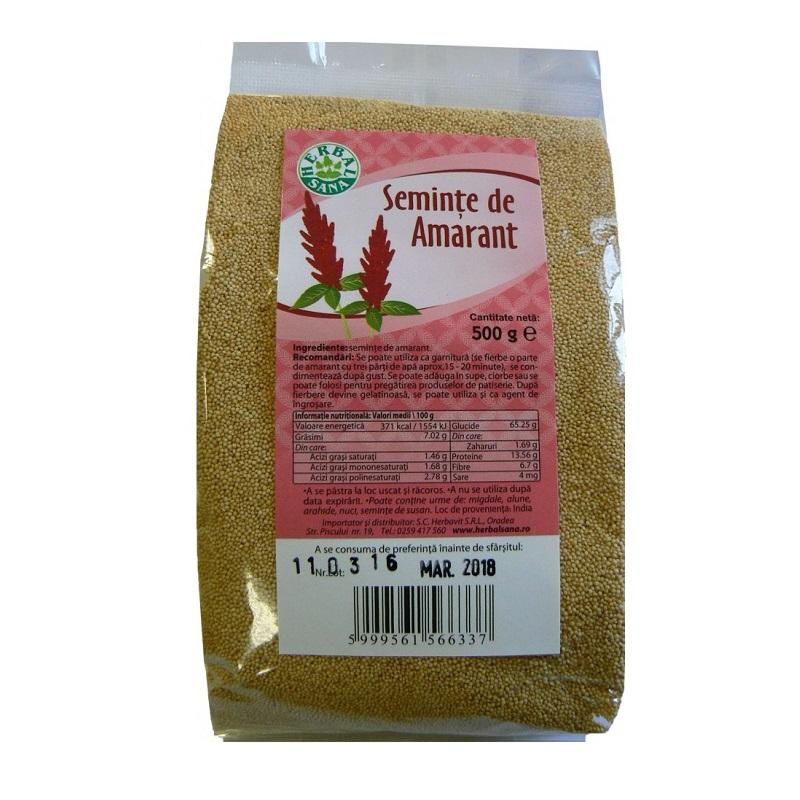 Semințe de amarant, 500 g, Herbal Sana