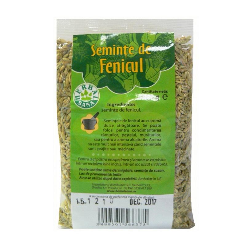 Semințe de fenicul, 100 g, Herbal Sana