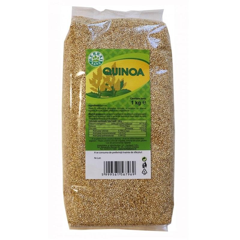 Semințe de quinoa, 1 kg, Herbal Sana