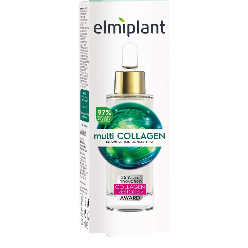 Ser antirid concentrat Multicollagen, 30 ml, Elmiplant