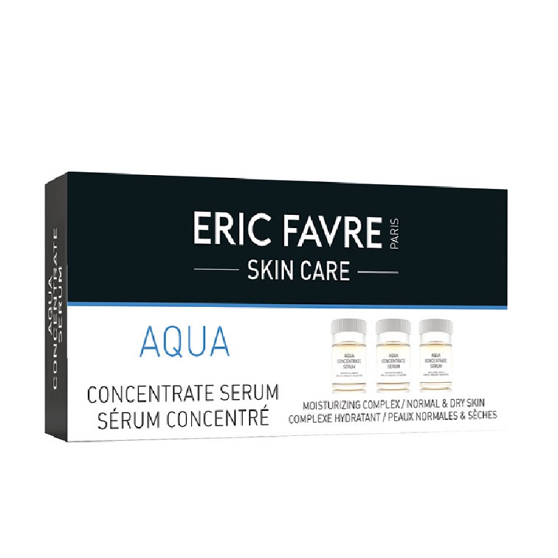 Ser hidratant concentrat Aqua, 10 fiole, Eric Favre