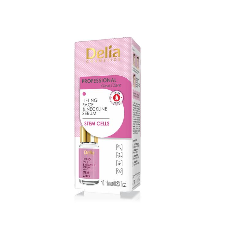 Ser tratament pentru față și decolteu, Lifting Anti-rid cu celule Stem, 10 ml, Delia Comsetics