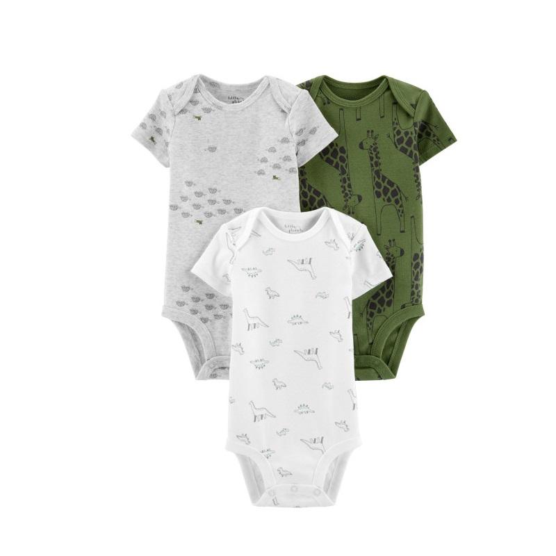 Set 3 piese Body Girafa,100% Bumbac Organic, 6 luni, 1H387710, Carter's