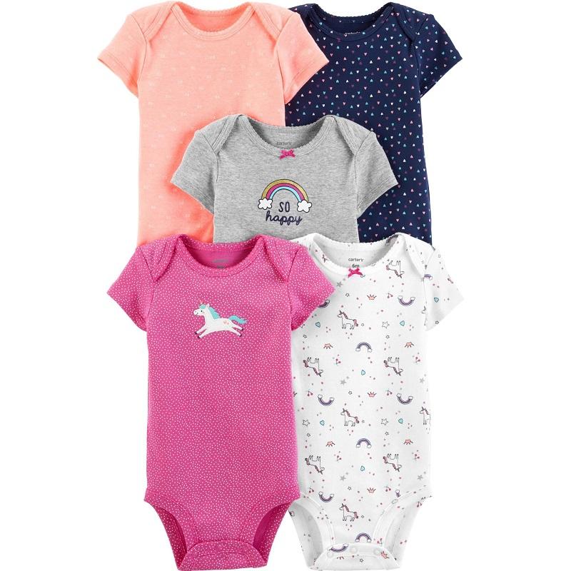 Set 5 Body bebeluși Unicorn, 3 luni, 17636010, Carter's