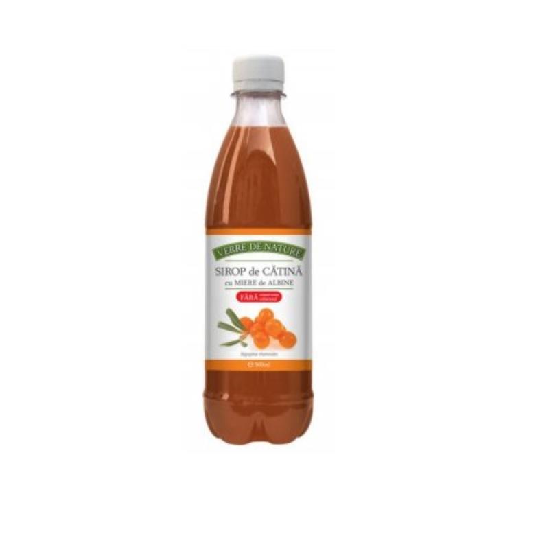 Sirop de catina si miere de albine, 500 ml, Manicos