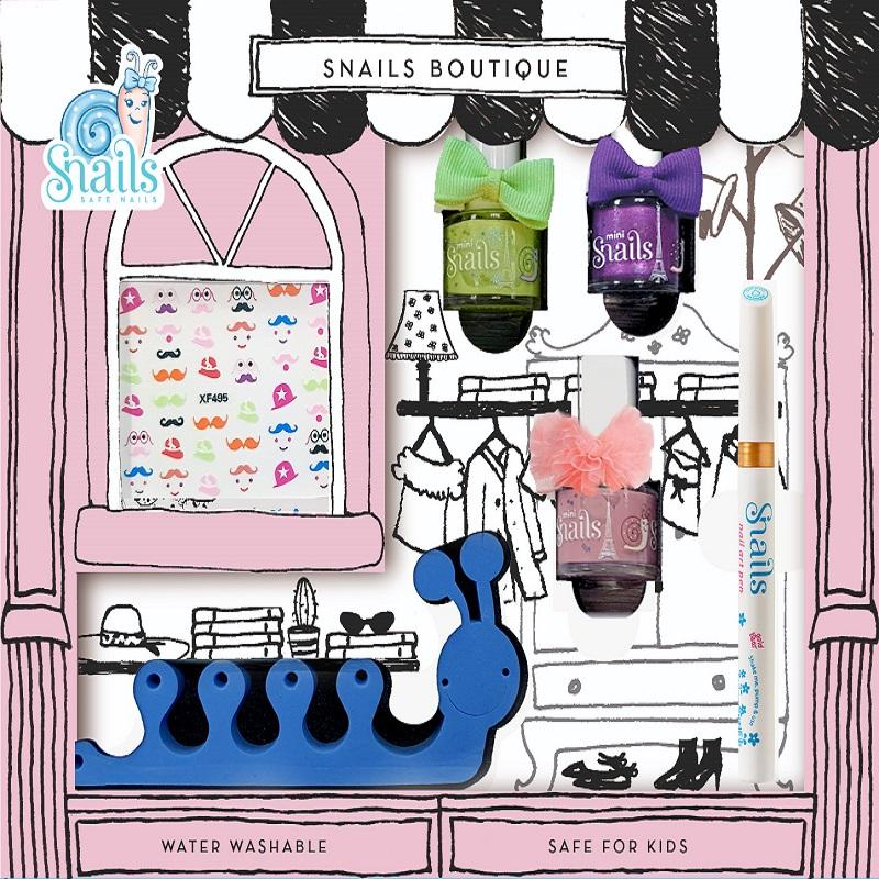 Kit de unghii pentru copii, Monde Boutique, Snails