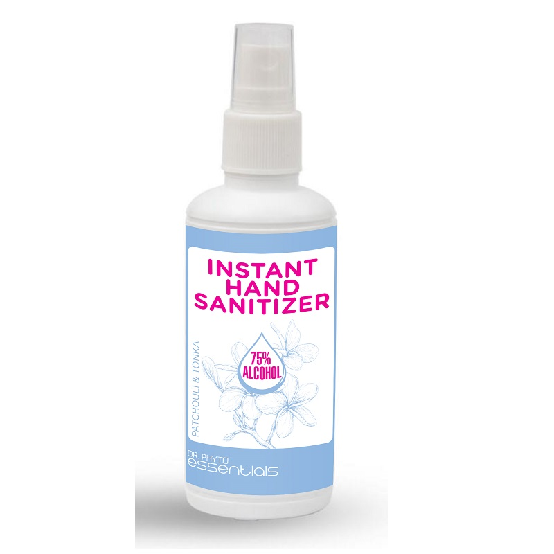 Spray dezinfectant pentru maini cu Patchouli si Tonka, 100 ml, Dr. Phyto
