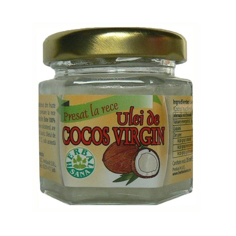 Ulei cocos presat la rece, 35 ml, Herbal Sana