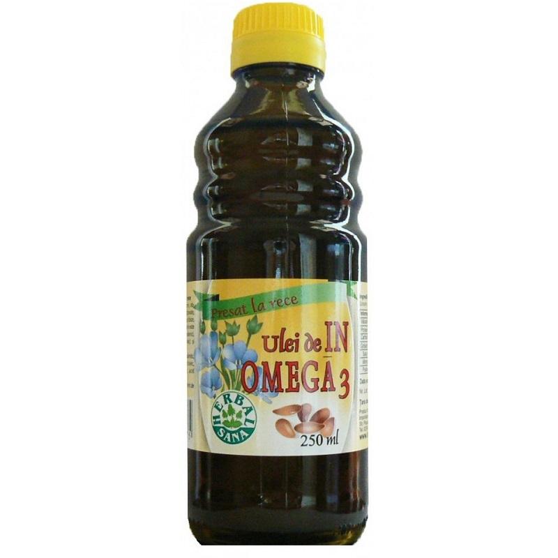 Ulei de in Omega 3, 250 ml, Herbal Sana