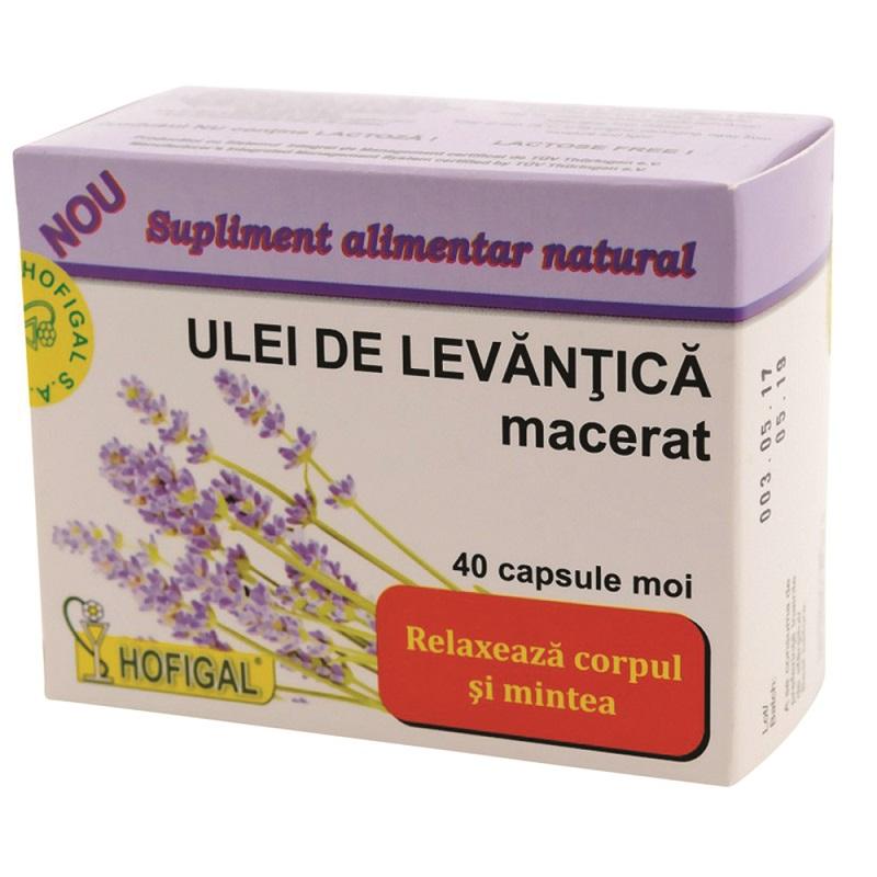 Ulei de levantica macerat, 40 capsule, Hofigal