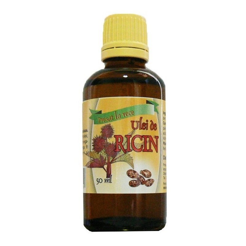 Ulei de ricin presat la rece, 50ml, Herbal Sana