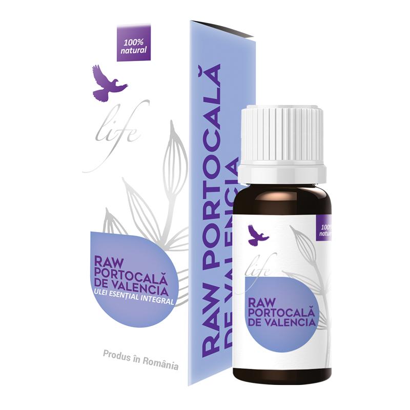 Ulei esential integral Raw Portocala de Valencia, 10 ml, Bionovativ