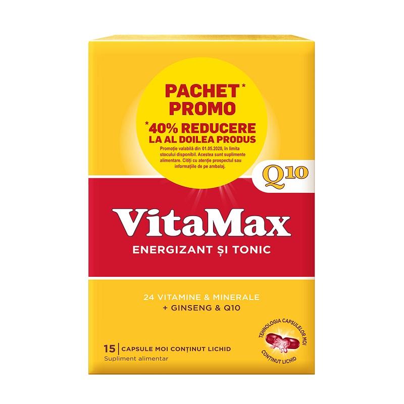 Vitamax Q10, 15 capsule + 15 capsule, (40% reducere din al 2-lea produs), Perrigo