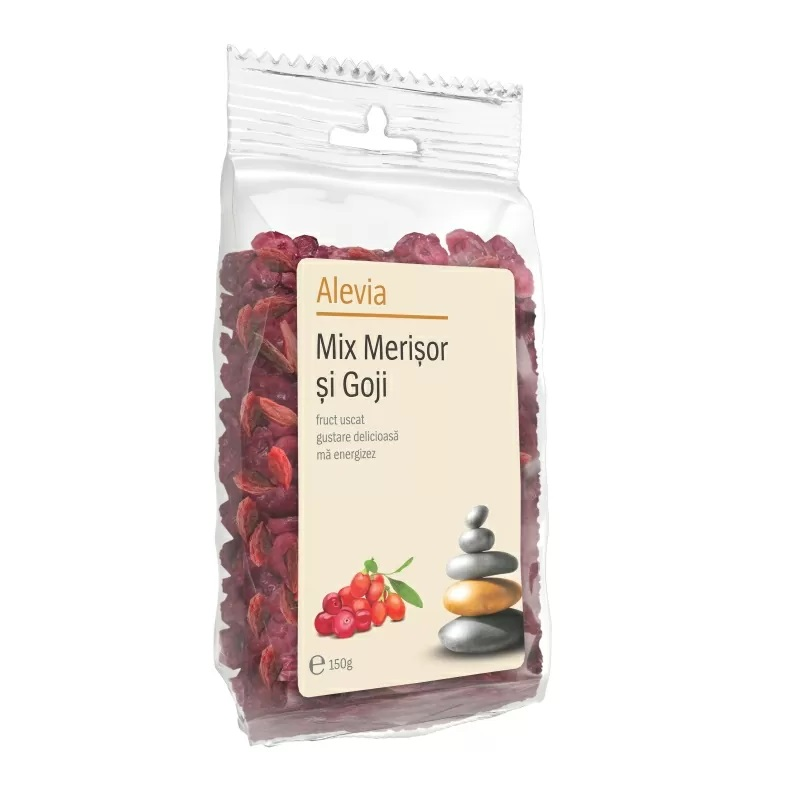 Vitamin Mix Merișor și Goji, 110 gr, Alevia